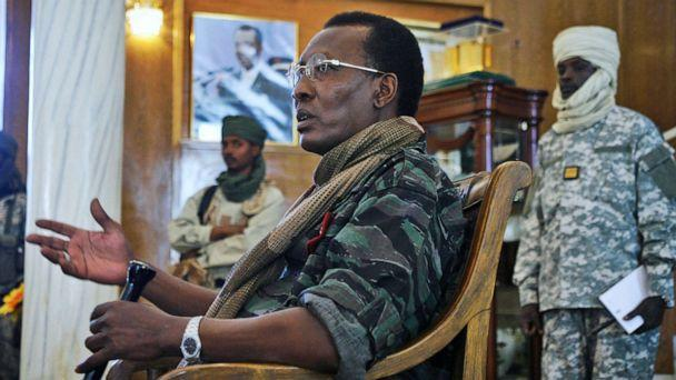 PHOTO: Chadian President Idriss Deby Itno addresses a news conference at the Presidential Palace in N'Djamena, Chad, Feb. 6, 2008. (Jerome Delay/AP, FILE)
