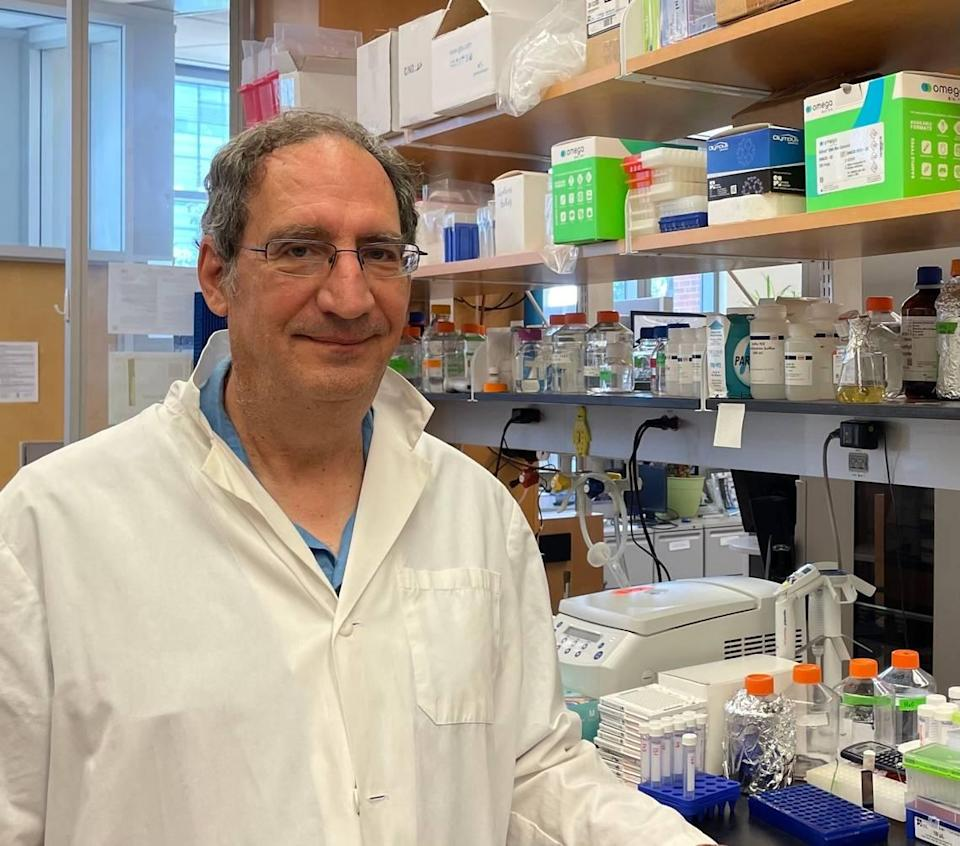 Dr. Bryan Roth in his lab on UNC-Chapel Hill's campus on June 23, 2021.