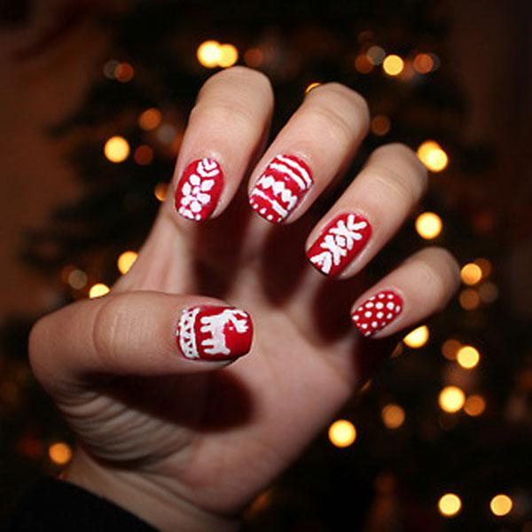Best Christmas nail art © flirtmaster / tumblr