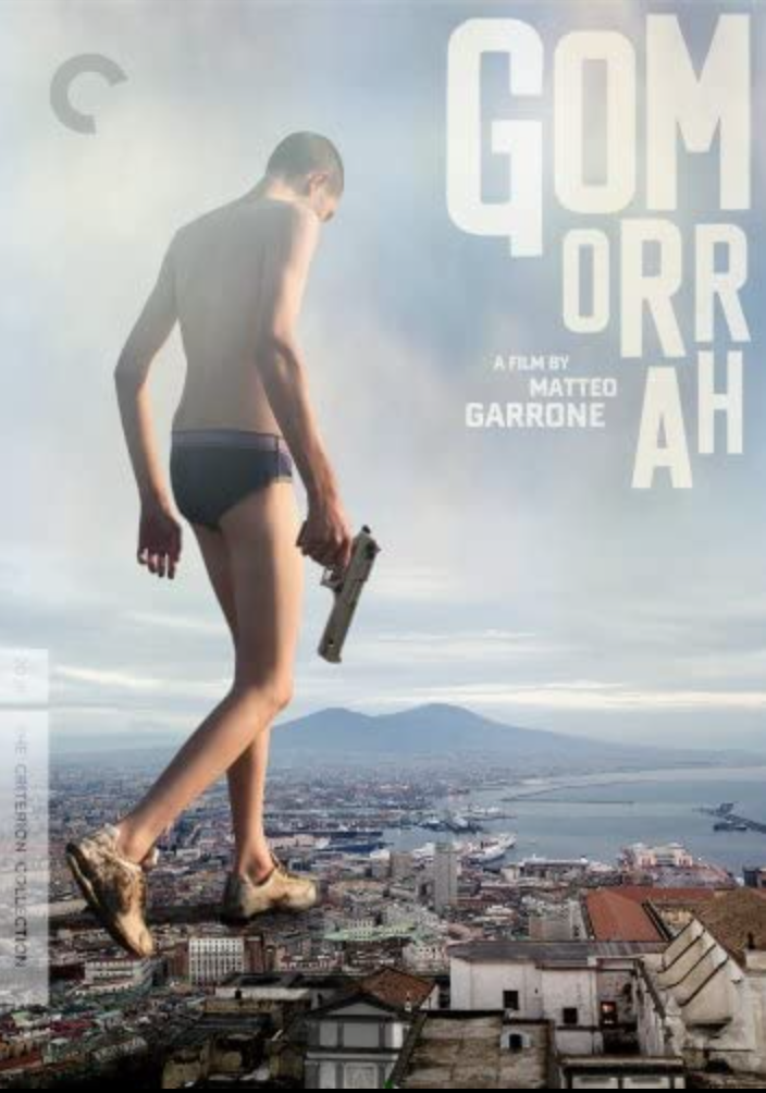 """<p><em>Gomorrah</em> is based on <a href=""""https://www.amazon.com/Gomorrah-Personal-International-Organized-Anniversary/dp/1250145031/ref=sr_1_1?crid=3HZ0690KH314P&dchild=1&keywords=gomorrah&qid=1618933245&s=books&sprefix=gomor%2Cstripbooks%2C154&sr=1-1"""" rel=""""nofollow noopener"""" target=""""_blank"""" data-ylk=""""slk:the absolutely insane investigative work of the same name"""" class=""""link rapid-noclick-resp"""">the absolutely insane investigative work of the same name</a> by Roberto Saviano. It outlines the operations of Naples' Camorra, a group of family crime syndicates with a firm grip on various regions' economics. In many ways, the film feels grittier and more tragic than <em>The Godfather</em>, which mostly involves members of various families. In <em>Gomorrah, </em>it's often the neighborhood that suffers most.</p><p><a class=""""link rapid-noclick-resp"""" href=""""https://www.amazon.com/Gomorrah-English-Subtitled-Toni-Servillo/dp/B00DQADZV2/ref=sr_1_1?dchild=1&keywords=Gomorrah+%282008%29&qid=1619533519&s=instant-video&sr=1-1&tag=syn-yahoo-20&ascsubtag=%5Bartid%7C2139.g.36133257%5Bsrc%7Cyahoo-us"""" rel=""""nofollow noopener"""" target=""""_blank"""" data-ylk=""""slk:STREAM IT HERE"""">STREAM IT HERE</a></p>"""