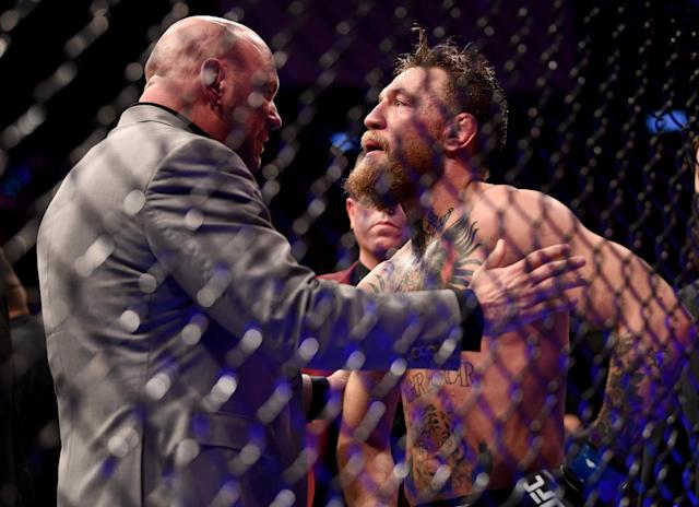 """Conor McGregor tweeted Saturday that he's """"decided to retire from fighting."""" (Photo By Stephen McCarthy/Sportsfile via Getty Images)"""