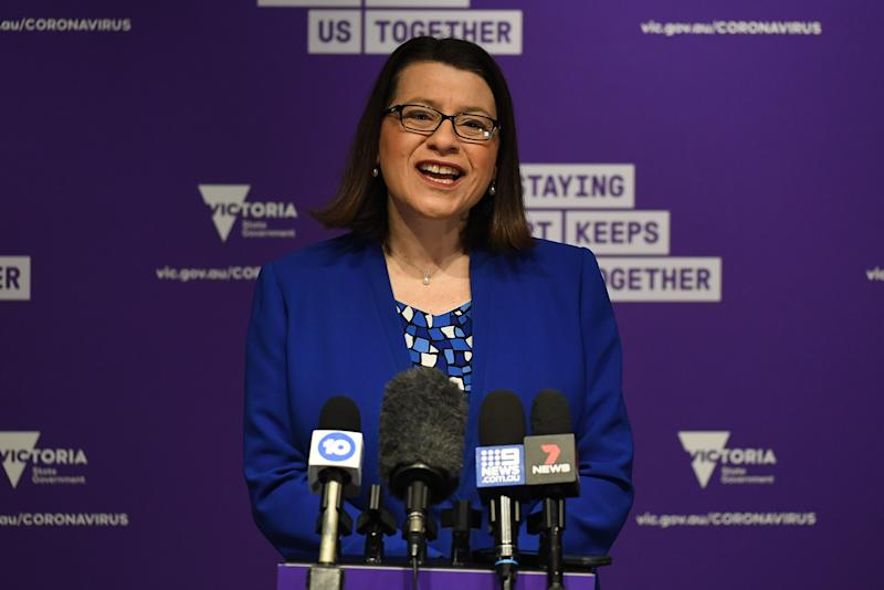 Health Minister Jenny Mikakos revealed the good news to Twitter, but said the risk was not over. Source: AAP