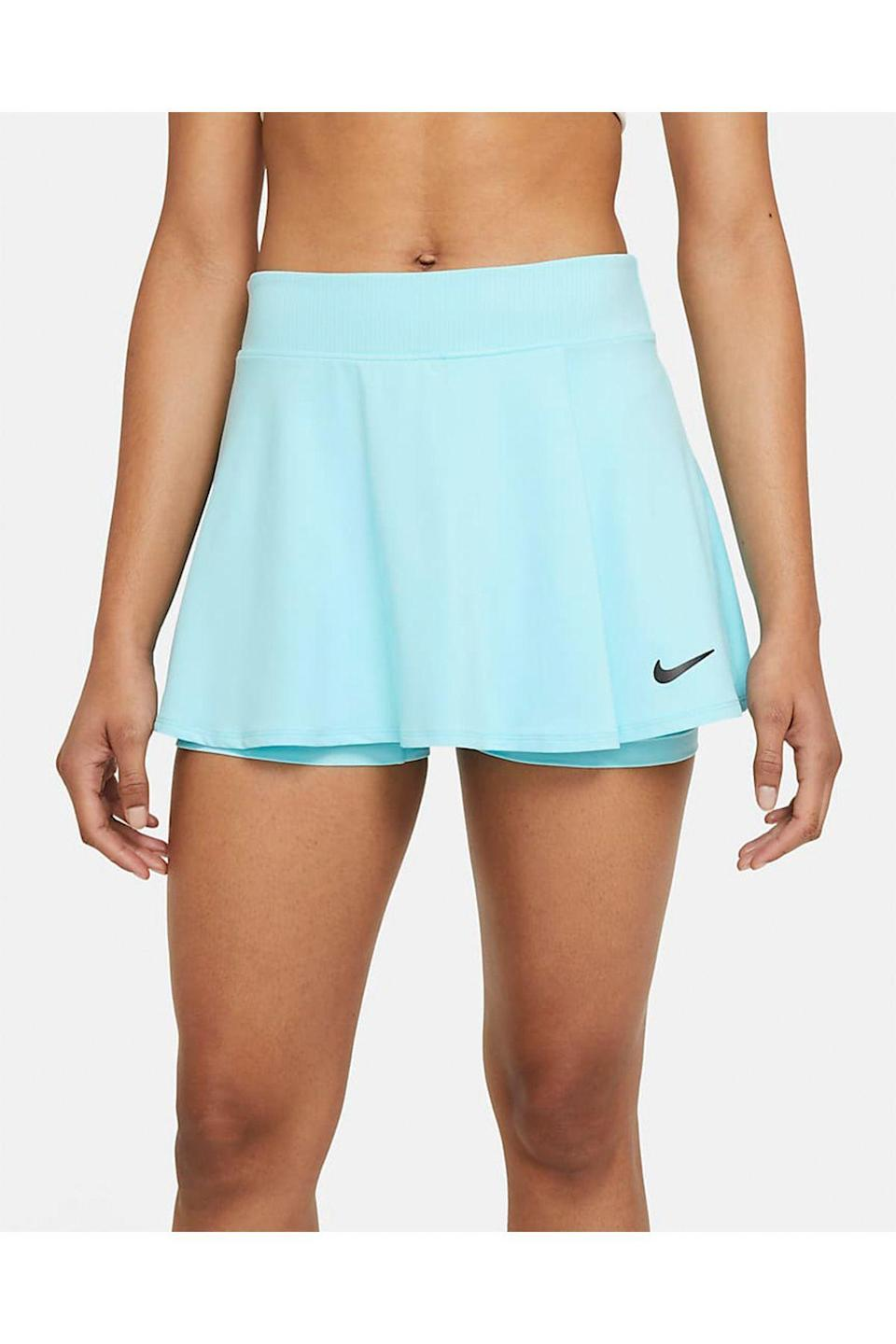 """<p><strong>Nike</strong></p><p>nike.com</p><p><strong>$34.97</strong></p><p><a href=""""https://go.redirectingat.com?id=74968X1596630&url=https%3A%2F%2Fwww.nike.com%2Ft%2Fnikecourt-victory-womens-tennis-skirt-BbWGm4&sref=https%3A%2F%2Fwww.townandcountrymag.com%2Fstyle%2Ffashion-trends%2Fg36717600%2Fbest-tennis-skirts%2F"""" rel=""""nofollow noopener"""" target=""""_blank"""" data-ylk=""""slk:Shop Now"""" class=""""link rapid-noclick-resp"""">Shop Now</a></p><p>Nike's sherbet-hued versions are flatteringly high-waisted and equipped with Dri-FIT technology for a seamless transition straight from court to brunch.</p>"""