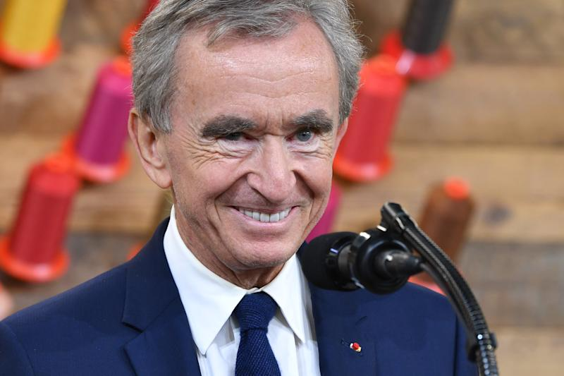 Bernard Arnault is on track to become the world's fifth centibillionaire, behind Jeff Bezos, Bill Gates, Elon Musk and Mark Zuckerberg on the Bloomberg Billionaires Index. Photo:Nicholas Kamm / AFP via Getty Images