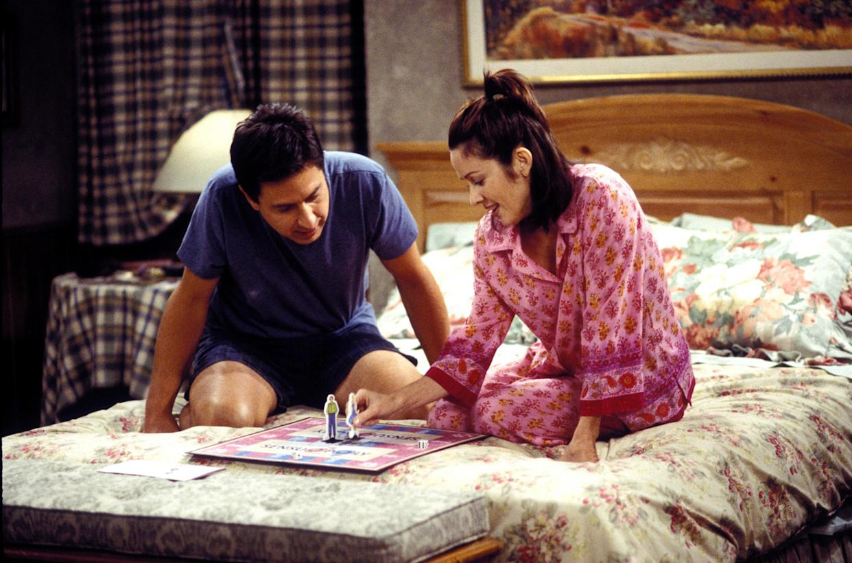 Romano and Heaton as Ray and Debra in Everybody Loves Raymond. CBS originally pushed for Rosenthal to cast a