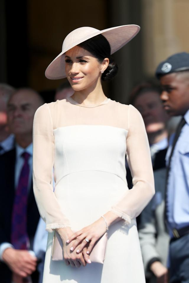 Meghan, Duchess of Sussex attends The Prince of Wales' 70th Birthday Patronage Celebration held at Buckingham Palace on May 22, 2018 in London, England. (Photo by Chris Jackson/Chris Jackson/Getty Images)