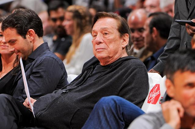 LOS ANGELES, CA - APRIL 10: Donald Sterling, owner of the Los Angeles Clippers, looks on as his team plays against the Minnesota Timberwolves at Staples Center on April 10, 2013 in Los Angeles, California. (Photo by Andrew D. Bernstein/NBAE via Getty Images)