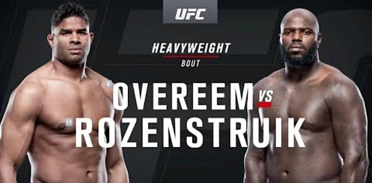 Ufc On Espn 7 Alistair Overeem Vs Jairzinho Rozenstruik