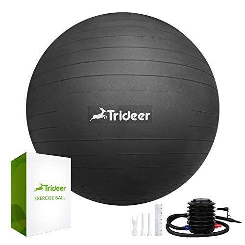 """<p><strong>Trideer</strong></p><p>amazon.com</p><p><strong>$15.19</strong></p><p><a href=""""https://www.amazon.com/dp/B07DK9QZV9?tag=syn-yahoo-20&ascsubtag=%5Bartid%7C10049.g.34373896%5Bsrc%7Cyahoo-us"""" rel=""""nofollow noopener"""" target=""""_blank"""" data-ylk=""""slk:Shop Now"""" class=""""link rapid-noclick-resp"""">Shop Now</a></p><p>What can't a yoga ball do? You'll love <strong>using it as a desk chair</strong>, throwing it around, and balancing on it during your workouts. This deal won't last long, so act quickly. </p>"""