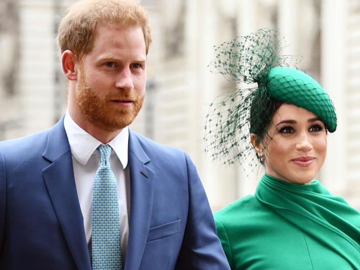 Prince Harry and Meghan Markle in March 2020.