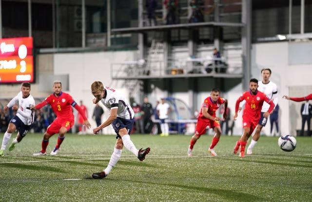 James Ward-Prowse saw his penalty saved against Andorra before turning home the rebound.
