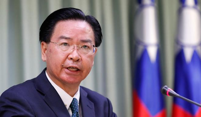 """Taiwanese Foreign Minister Joseph Wu: """"We are happy to learn that they have changed our name back to the original title."""" Photo: Reuters"""
