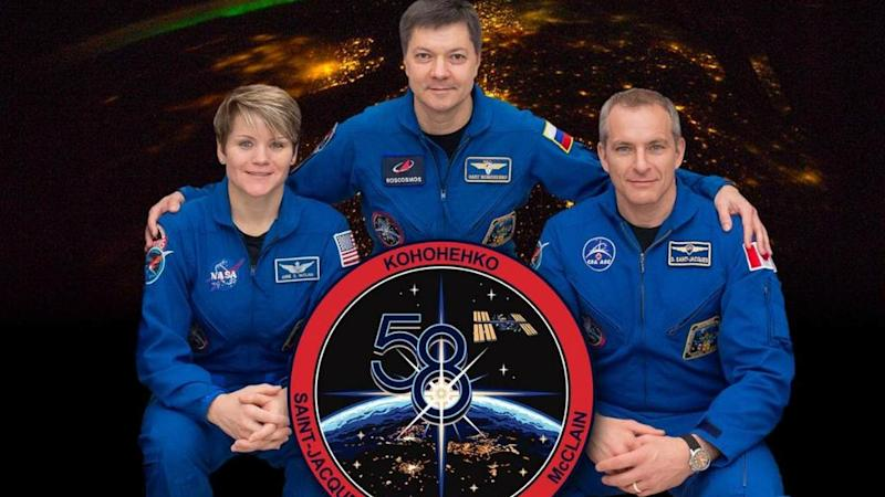 Three astronauts return from space after 204 days on International Space Station
