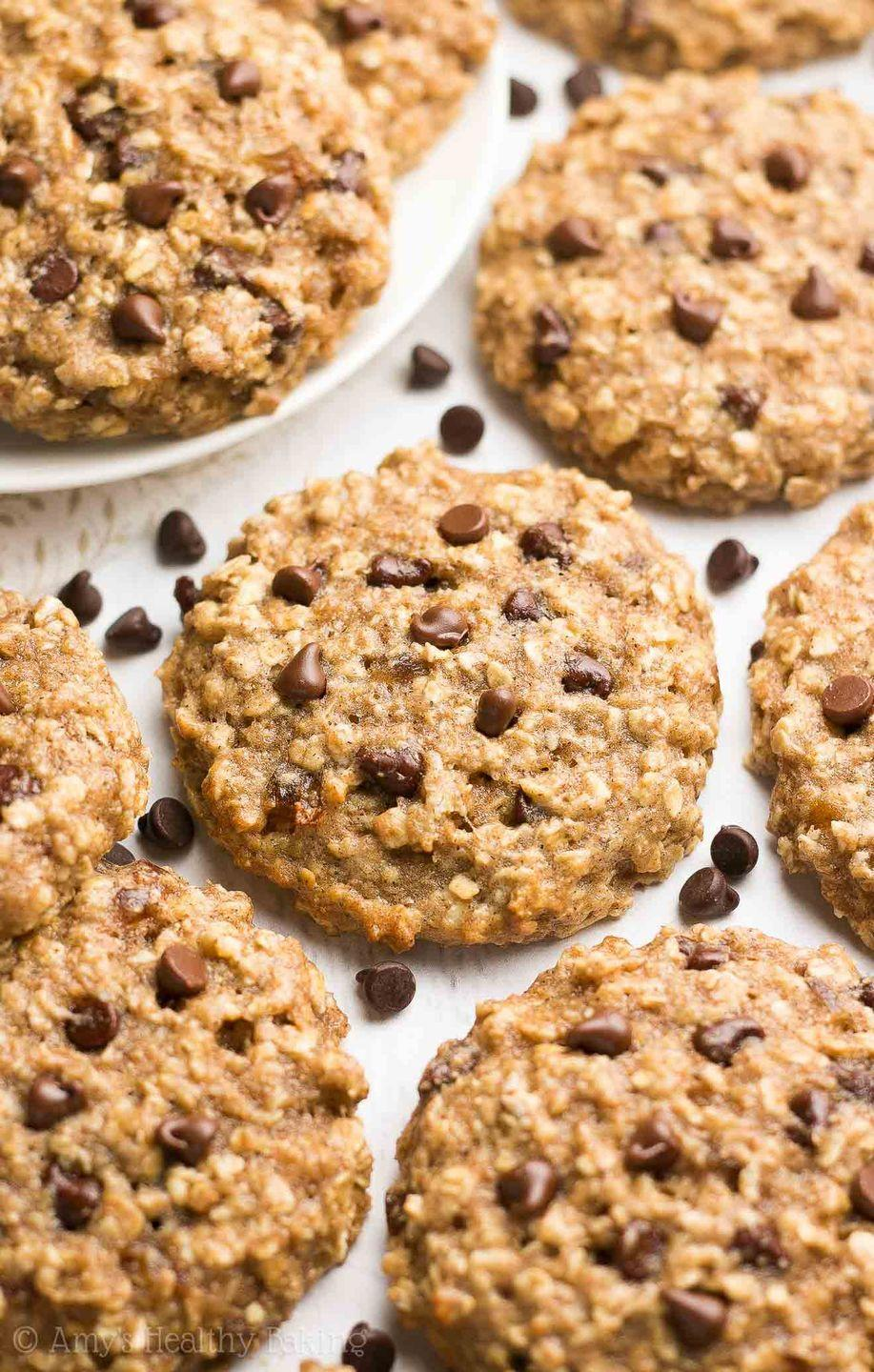 """<p>Every Midwesterner has a recipe for """"bars"""" up their sleeve, and in North Dakota, the combination of oatmeal and caramel never fails. These cookies meld the two, with the addition of melty chocolate chips.</p><p>Get the recipe from <a href=""""https://amyshealthybaking.com/blog/2017/06/15/caramel-chocolate-chip-oatmeal-cookies/"""" rel=""""nofollow noopener"""" target=""""_blank"""" data-ylk=""""slk:Amy's Healthy Baking"""" class=""""link rapid-noclick-resp"""">Amy's Healthy Baking</a>.</p>"""