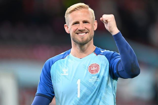 Denmark's goalkeeper Kasper Schmeichel said the team had been lifted by a visit from Eriksen