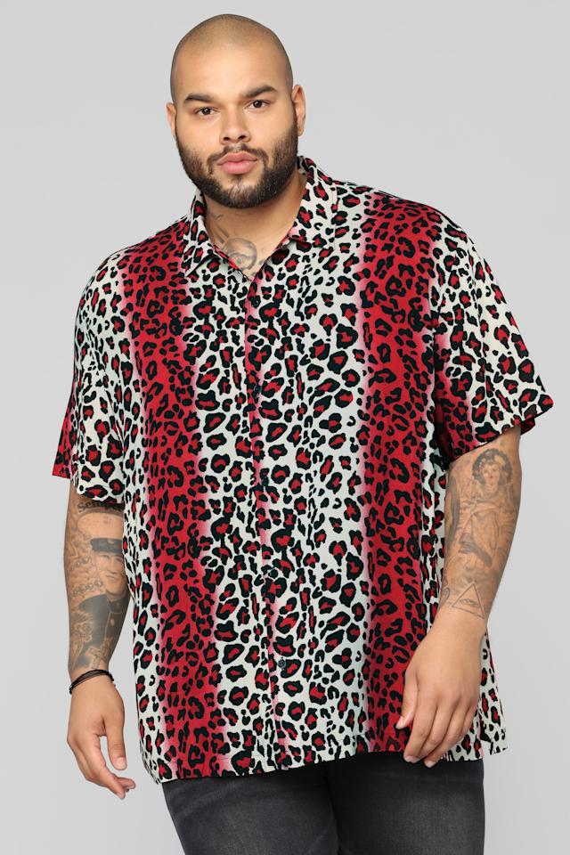 "<p>Animal print is here to stay, and this multicolored leopard-print shirt is breathable for those warmer days ahead. Or pair it with a sleek moto jacket for an edgier look on colder days. <br /><a rel=""nofollow"" href=""https://fave.co/2Axu8fl""><strong>Shop it:</strong></a> Fiery Jungle Short-Sleeve Woven Top, <a rel=""nofollow"" href=""https://fave.co/2Axu8fl"">$25</a> </p>"