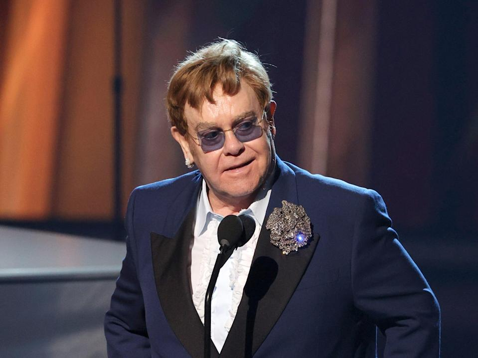 Elton John criticised the government for its failure to address the post-Brexit touring landscape for musicians and performers (Getty Images for iHeartMedia)