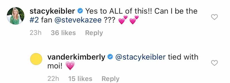 Steve Kazee's Instagram comments