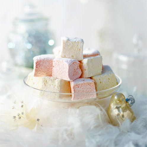 """<p>A clever gelatine trick, plus a little help from a sugar thermometer, makes these really failsafe.</p><p><strong>Recipe: <a href=""""https://www.goodhousekeeping.com/uk/food/recipes/a537080/marshmallows/"""" rel=""""nofollow noopener"""" target=""""_blank"""" data-ylk=""""slk:Marshmallows"""" class=""""link rapid-noclick-resp"""">Marshmallows</a></strong><br><br><br><br></p>"""