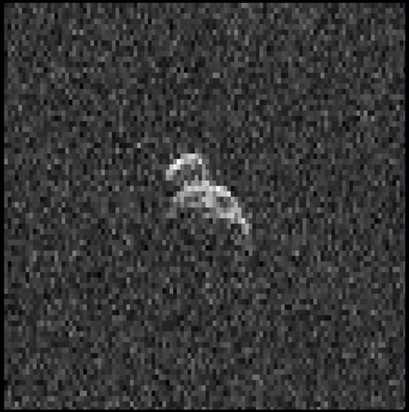 Huge Peanut-Shaped Asteroid Buzzes Earth in NASA Video