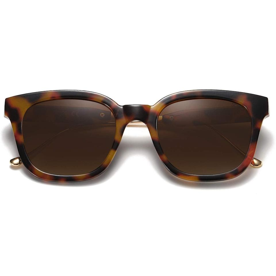 """<h3><a href=""""https://amzn.to/2SnY4ne"""" rel=""""nofollow noopener"""" target=""""_blank"""" data-ylk=""""slk:Sojos Polarized Sunglasses"""" class=""""link rapid-noclick-resp"""">Sojos Polarized Sunglasses</a></h3><br><strong>Angela</strong><br><br><strong>How She Discovered It:</strong> """"I saw an ad on Instagram."""" <br><br><strong>Why It's A Hidden Gem:</strong> """"The sunglasses are trendy, cheap, and hold up very well. I'm on my second pair and I always get compliments on them.""""<br><br><strong>Sojos</strong> Classic Square Polarized Sunglasses Unisex, $, available at <a href=""""https://amzn.to/2SnY4ne"""" rel=""""nofollow noopener"""" target=""""_blank"""" data-ylk=""""slk:Amazon"""" class=""""link rapid-noclick-resp"""">Amazon</a>"""
