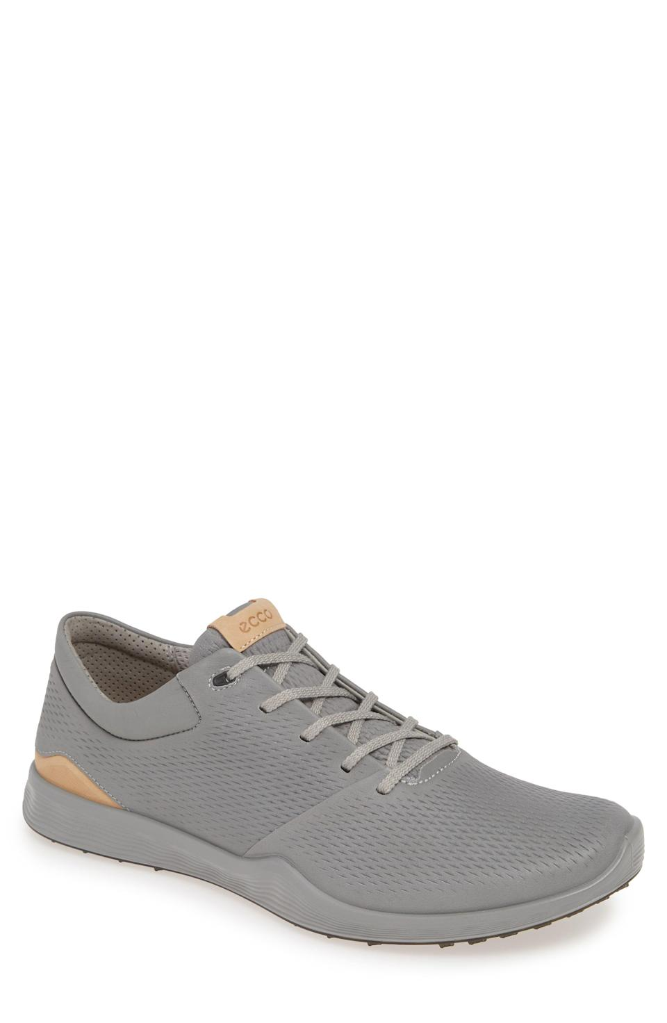 "<p><strong>ECCO</strong></p><p>nordstrom.com</p><p><strong>$160.00</strong></p><p><a href=""https://go.redirectingat.com?id=74968X1596630&url=https%3A%2F%2Fshop.nordstrom.com%2Fs%2Fecco-s-lite-golf-sneaker-men%2F5485421&sref=https%3A%2F%2Fwww.womenshealthmag.com%2Flife%2Fg33501922%2Funique-gift-ideas-for-men%2F"" rel=""nofollow noopener"" target=""_blank"" data-ylk=""slk:Shop Now"" class=""link rapid-noclick-resp"">Shop Now</a></p><p>His old, dingy golf shoes definitely need an upgrade this year. These supple sneaks are made of lightweight yak leather and have a perforated texture for breathability.</p>"