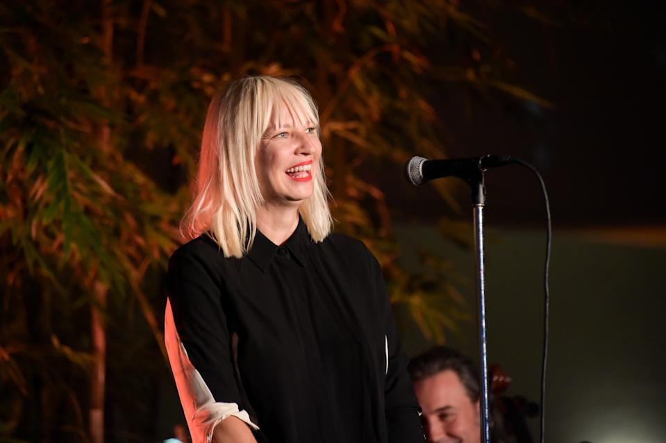 Sia Furler attends Hammer Museum 12th Annual Gala In The Garden With Generous Support From Bottega Veneta on October 12, 2014 in Westwood, California. (Photo by Stefanie Keenan/Getty Images for Hammer Museum)