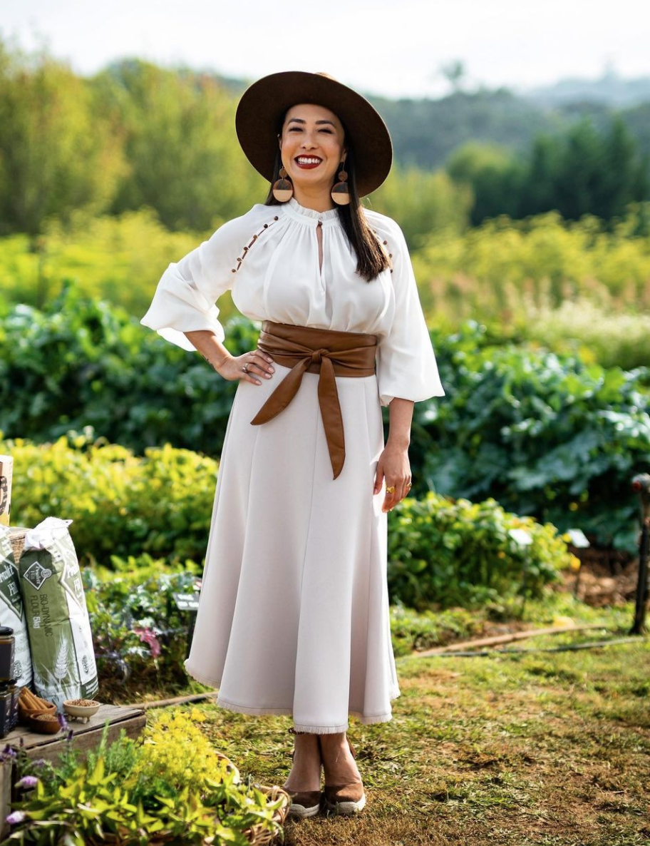 MasterChef's Melissa Leong got lots of compliments in this lovely outfit last night. Photo: Instagram/10styling