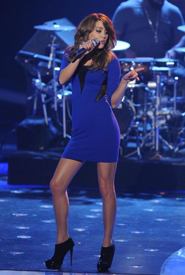 "Angie Miller performs The Miracles' ""Shop Around"" on the Wednesday, March 27 episode of ""American Idol."""