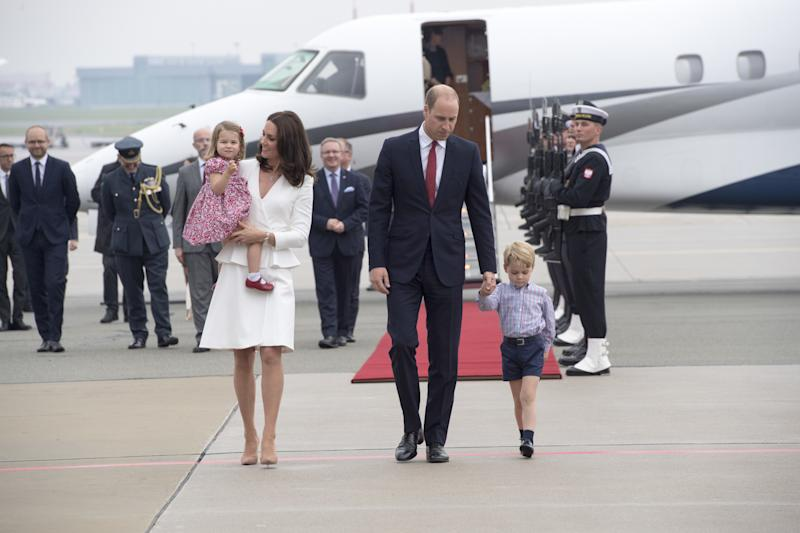A few days earlier, the young royals arrived in Warsaw, Poland, which was the first leg of their royal tour.