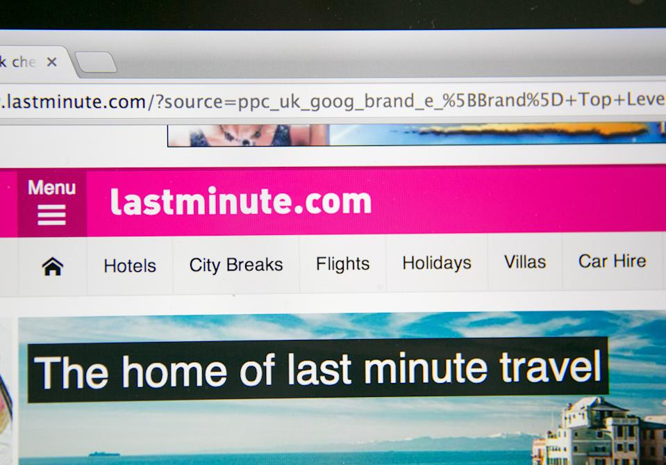 Lastminute.com website. Photo Illustration: Matt Cardy/Getty