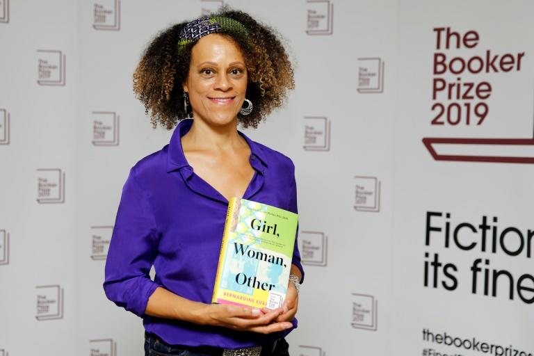 British author Bernardine Evaristo is joint winner of this year's Booker Prize for her novel Girl, Woman, Other' (AFP Photo/Tolga AKMEN)
