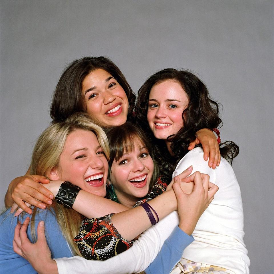 <p>Both the 2001 bestselling novel by Ann Brashares and the 2005 film starring Blake Lively, Alexis Bledel, America Ferrera, and Amber Tamblyn were big hits with young women. The four best friends from Bethesda separate for the summer for the first time — and they find a magical pair of jeans that somehow fits all of them. The girls learn to live without each other, but the pants keep them together. <i>(Source: Everett Collection)</i></p>