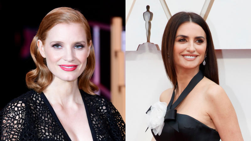 Jessica Chastain and Penelope Cruz are facing controversy over 'The 355'. (Credit: Ian West/PA Images/Rick Rowell via Getty Images)