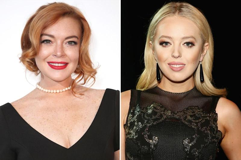 Lindsay Lohan and Tiffany Trump