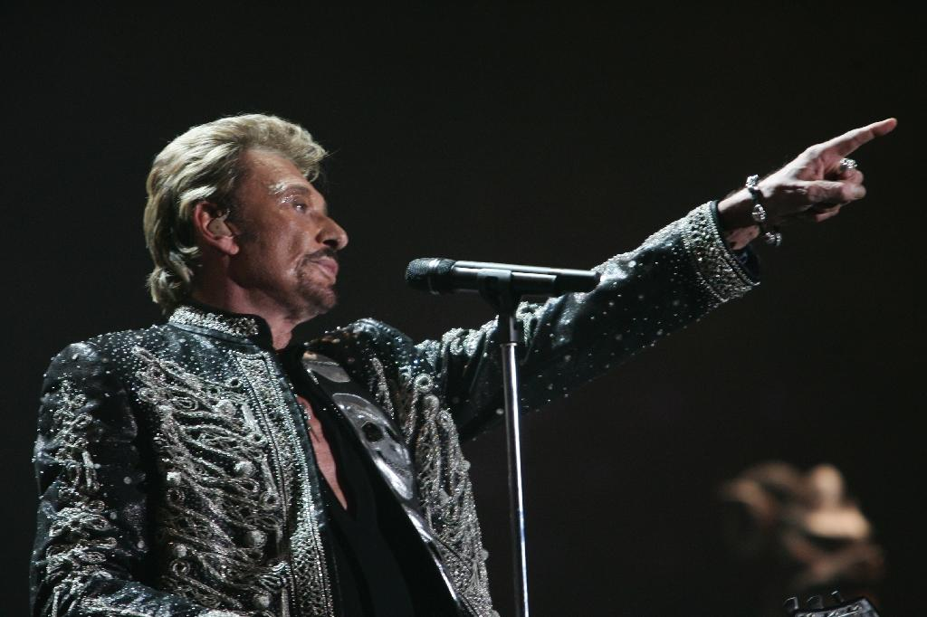Johnny Hallyday was known as the French Elvis (AFP Photo/FRED DUFOUR)