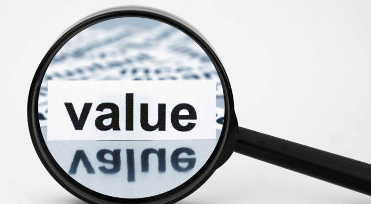 The word value amplified by a magnifying glass