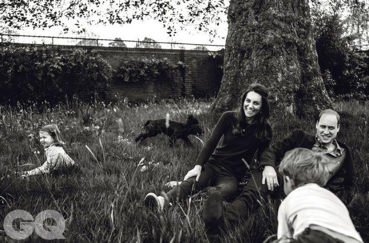 <p>Charlotte can be seen playing in the garden in a picture-perfect photo with the rest of her family for a shoot that appeared in <i>British GQ</i>.<br><i>[Photo: GQ]</i> </p>