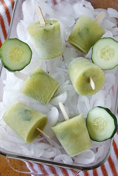 """<p>With a refreshing kick, these cucumber pops are too delightful. If you think the chili gives it too much of a kick, simply cut back or omit it.</p> <p><strong>Get the recipe</strong>: <a href=""""https://www.tablespoon.com/recipes/cucumber-chili-mexican-paletas/2c217d41-aff6-4c0d-a059-aa95d5176a7b"""" class=""""link rapid-noclick-resp"""" rel=""""nofollow noopener"""" target=""""_blank"""" data-ylk=""""slk:cucumber chili popsicles"""">cucumber chili popsicles</a></p>"""