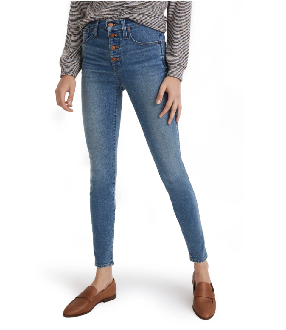 Madewell Button Front High Waist Skinny Jeans - Nordstrom, $68 (originally $135)