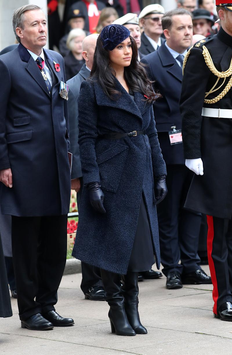 The Duchess of Sussex attended the 91st Field of Remembrance at Westminster Abbey. [Photo: Getty]