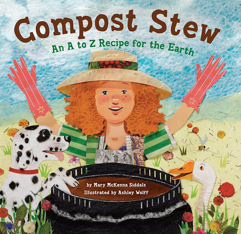 "This alphabet book offers a child-friendly explanation of composting. <i>(Available <a href=""https://www.amazon.com/Compost-Stew-Z-Recipe-Earth/dp/1582463166"" target=""_blank"" rel=""noopener noreferrer"">here</a>)</i>"