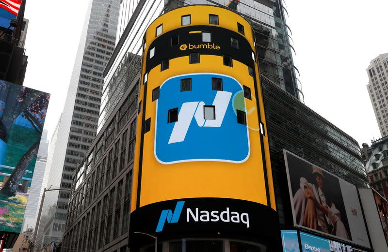 Bumble Inc. (BMBL) makes stock IPO on Nasdaq in New York City