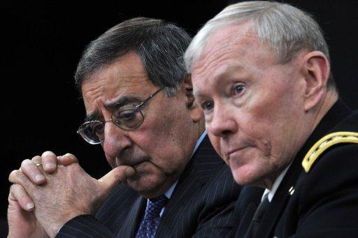 <p>US Secretary of Defense Leon Panetta and Chairman of the Joint Chiefs of Staff General Martin E. Dempsey at a press conference January 24, 2013 at the Pentagon. The United States will have to keep up an open-ended drone war against Al-Qaeda militants in Pakistan and elsewhere to prevent another terror attack on America, Panetta said</p>