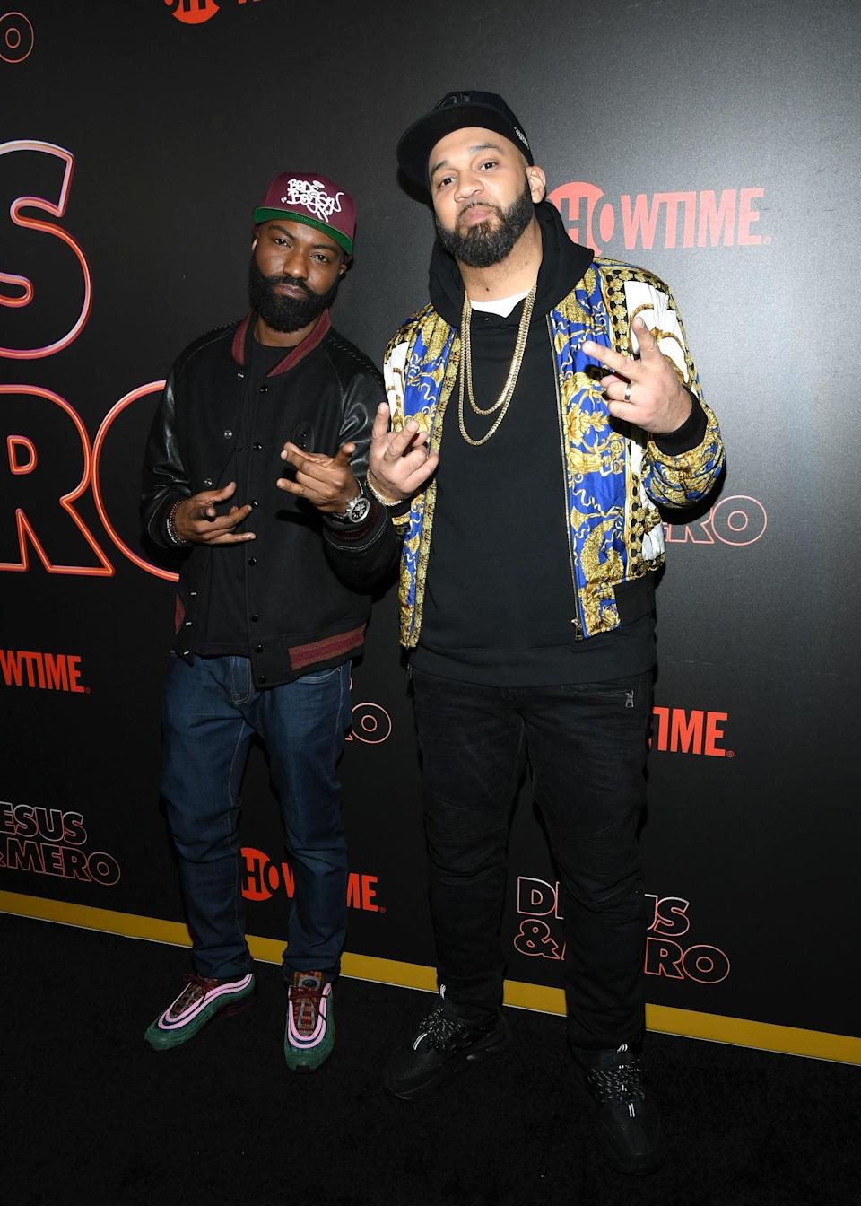 """<h1 class=""""title"""">February 22: Desus Nice and The Kid Mero</h1> <div class=""""caption""""> This is exactly how you want to dress for the premiere of your brand-new TV show. </div> <cite class=""""credit"""">Mike Coppola</cite>"""