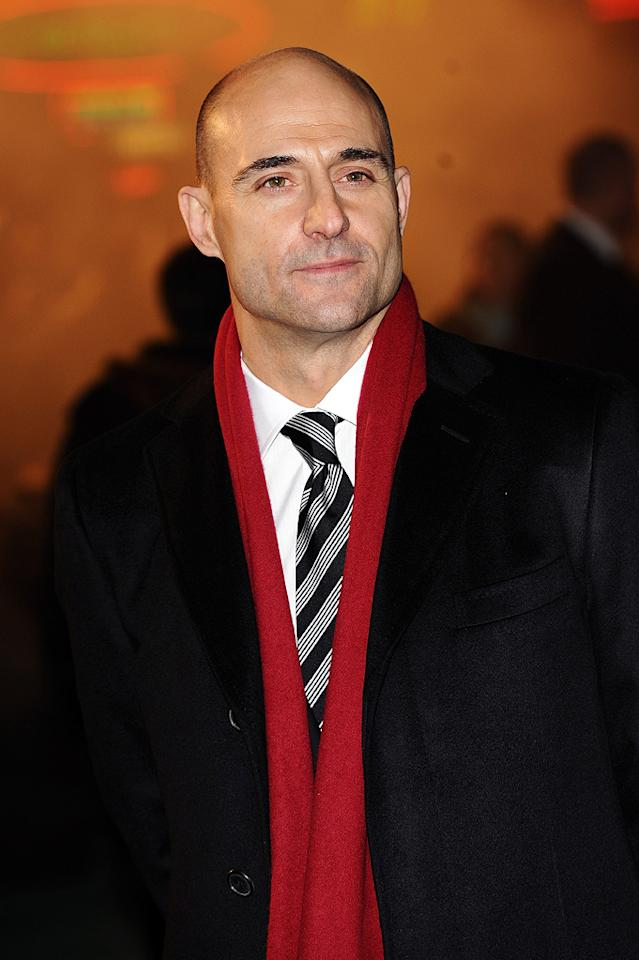 """<a href=""""http://movies.yahoo.com/movie/contributor/1800026547"""">Mark Strong</a> at the London premiere of <a href=""""http://movies.yahoo.com/movie/1810045845/info"""">Sherlock Holmes</a> - 12/14/2009"""