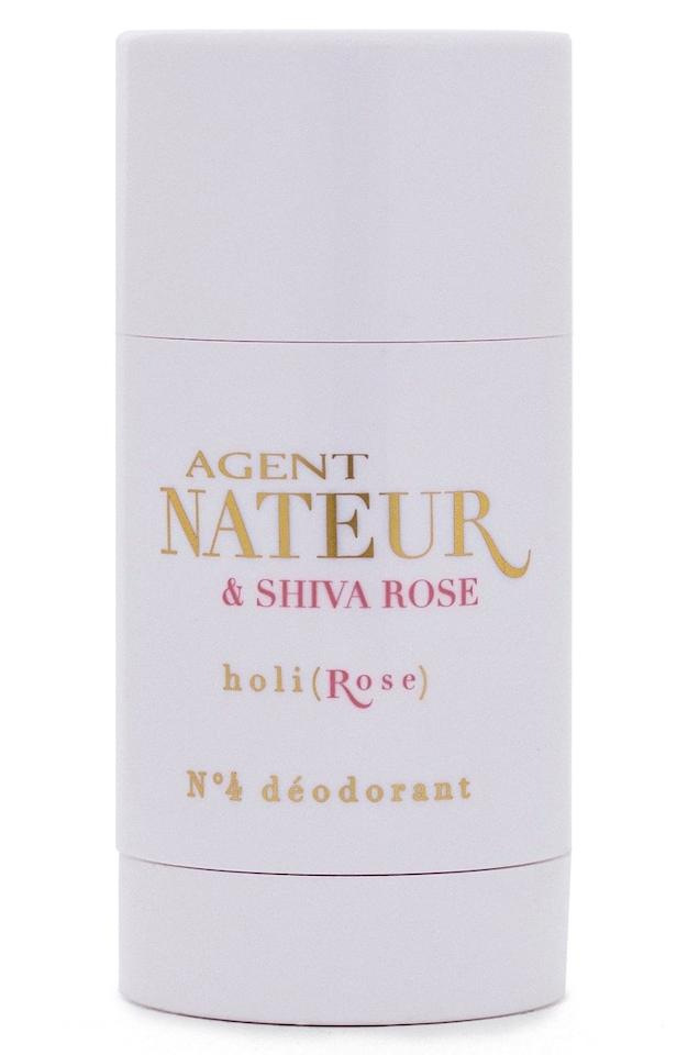 """<p>This <a href=""""https://www.popsugar.com/buy/Agent-Nateur-holirose-No4-Deodorant-407001?p_name=Agent%20Nateur%20holi%28rose%29%20No4%20Deodorant&retailer=freepeople.com&pid=407001&price=26&evar1=bella%3Aus&evar9=45698726&evar98=https%3A%2F%2Fwww.popsugar.com%2Fbeauty%2Fphoto-gallery%2F45698726%2Fimage%2F45698815%2FAgent-Nateur-holirose-No4-Deodorant&list1=shopping%2Cnatural%20beauty%2Cdeodorant%2Cbody%20care%2Cnatural%20deodorant%2Cskin%20care&prop13=api&pdata=1"""" rel=""""nofollow"""" data-shoppable-link=""""1"""" target=""""_blank"""" class=""""ga-track"""" data-ga-category=""""Related"""" data-ga-label=""""https://www.freepeople.com/shop/agent-nateur-holirose-deodorant/?adpos=1o21&amp;color=000&amp;countryCode=US&amp;creative=193819656453&amp;device=c&amp;gclid=Cj0KCQiAm5viBRD4ARIsADGUT26e5ijJXQRXp4E41qpeg59atRv3_piT-Rl95awCUa28c-w00cQt2CkaAjkPEALw_wcB&amp;inventoryCountry=US&amp;matchtype=&amp;mrkgadid=3206392102&amp;mrkgcl=720&amp;network=g&amp;product_id=48115273&amp;size=One%20Size&amp;utm_content=Beauty&amp;utm_term=48115273"""" data-ga-action=""""In-Line Links"""">Agent Nateur holi(rose) No4 Deodorant</a> ($26) lasts all day long without me having to reapply, and doesn't irritate my skin. Plus, it smells like a rose garden.</p>"""