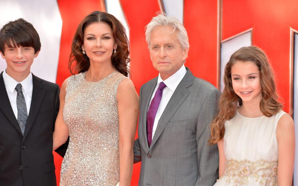 Zeta-jones family Dylan and Carys regularly appeared on red carpets