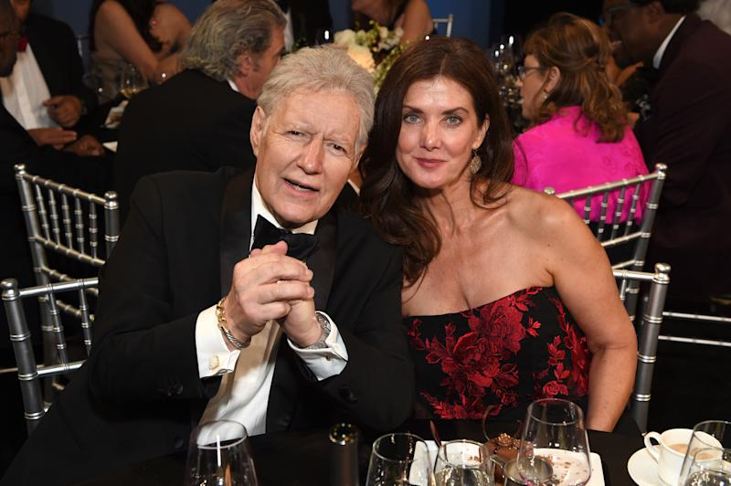 HOLLYWOOD, CALIFORNIA - JUNE 06: (L-R) Alex Trebek and Jean Currivan Trebek attend the 47th AFI Life Achievement Award honoring Denzel Washington at Dolby Theatre on June 06, 2019 in Hollywood, California. (Photo by Michael Kovac/Getty Images for AFI)
