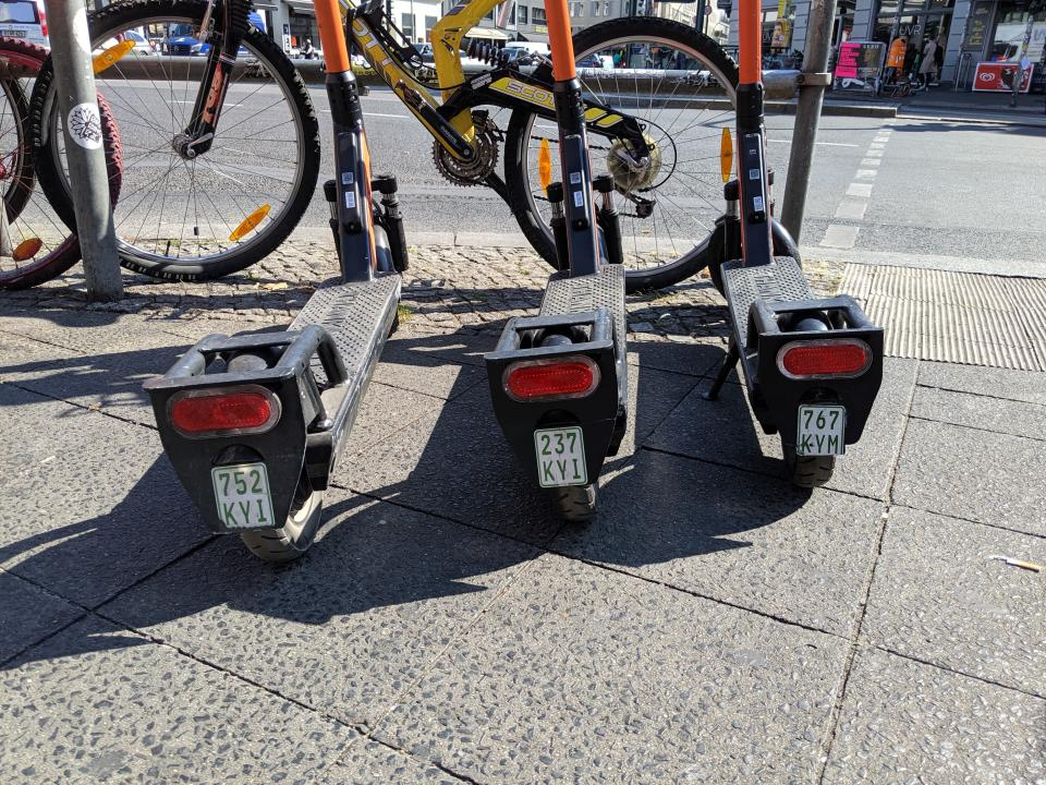 Berlin welcomes innovation, but is strict. Scooters must have license plates. (Yahoo Finance)